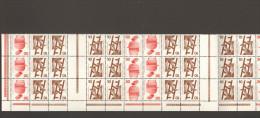 BRD Unfallverhütung Markenheftchenbogen MHB 16 ** 3er Streifen Mit Unterrand MNH 2 Bilder - Carnets