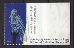 FALCON  5th Definitive - 2007- ISSUE BOOKLET   MINT NEVER HINGED - United Arab Emirates