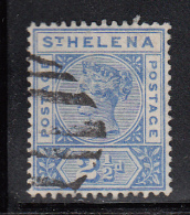 St. Helena Used Scott #44 2 1/2p Victoria, Ultramarine - Sainte-Hélène