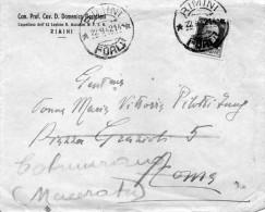 1942   LETTERA CON ANNULLO RIMINI FORLI´ - 1900-44 Victor Emmanuel III