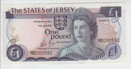 Jersey 1 Pound (1976-88)  Pick 11b UNC - Jersey