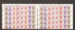 BRD Unfallverhütung Markenheftchenbogen MHB 18** 1/2 Bogen MNH - Carnets