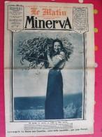 Minerva Le Matin 1935. Féminisme, Féminin, Mode. Enfants Martyrs, Yvonne Printemps, Pierre Fresnay, Reine Astrid - Autres