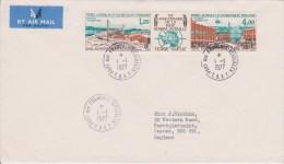 TAAF - 1 JANVIER 1977 - YVERT N°PA 43A Sur ENVELOPPE De PORT AUX FRANCAIS Pour L´ANGLETERRE - - Terres Australes Et Antarctiques Françaises (TAAF)
