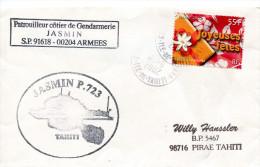 Patrouilleur Cotier Jasmin - FAAA - 17 Juin 2002 - R 1275 - Postmark Collection (Covers)
