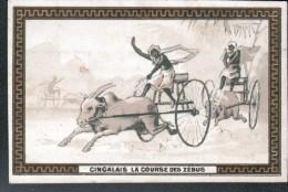 CHROMO PANAMA SOLUBLE - CINGALAIS - LA COURSE DES ZEBUS - Chocolat