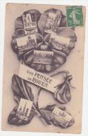 """Carte Postale Ancienne """"une Pensée De Rouen""""(76) Plusieurs Vues - Rouen"""