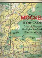 Plan De MOSCOU - Format : Environ 57 X 70 Cm - Cartes Routières