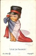 VIVE LA FRANCE-OUR ALLIES-illustrateur Flora White-envoi Depuis Salsbury En Franchise Militaire - Humor