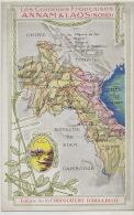 Laos Annam Carte Geo   Guerre Siam   Pub Aiguebelle - Laos