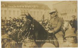 WWI Einzug Der Ostafrika Kampfer In Berlin  General Von Lettow Vorbeck Am Pariser Platz Phot Haeckel - Namibie