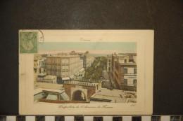 CP, Tunisie, Tunis Perspective De L'Avenue De France  1910 Edition LL Carte Gauffrée - Tunisie