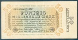 """Deutschland, Germany - 50 Mrd. Mark, Reichsbanknote, Ro. 116 I, ( """"Franzosenschein"""" ) 1923 ! - [ 3] 1918-1933: Weimarrepubliek"""