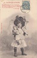 La Journèe De Suzette - Hübsches Kleines Mädchen Mit Puppe Und Sonnenschirm, Gel.1904 - Szenen & Landschaften
