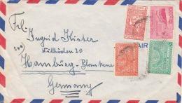 SAUDI ARABIEN 195? - 4 Sondermarken Auf FP-Brief - Saudi-Arabien