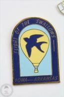 Flight Of The Swallows - IOWA - Arkansas Hot Air Balloon - Pin Badge #PLS - Badges