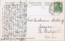 "E044 Ak Hildesheim, Bahnpost ""HALLE(SAALE)-HANNOVER"" 1911 - Allemagne"