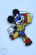 Disney Mickey Mouse Yellow Jacket And Blue Sungluses - Skating - Pin Badge #PLS - Disney