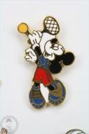 Walt Disney Mickey Mouse Playing Tennis  - Pin Badge #PLS - Disney