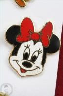 Walt Disney Minnie Mouse Head With Red Bow - Pin Badge #PLS - Disney