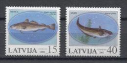 Latvija Fishes Poissons Peces Fische 2002 Mi#574-575 MNH - Pesci
