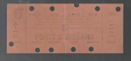 Carte Hebdomadaire De Travail R.A.T.P. METRO Station Porte D´Orléans Des Années 1960 - Abonnements Hebdomadaires & Mensuels