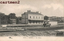 VARZY LA GARE + CACHET AMBULANT 58 NIEVRE - France