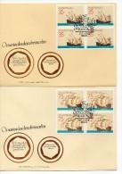 Serie De Barcos De Portugal En Bloque De 4. 1991 - Cartas