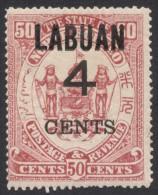 Labuan, 4 C. On 50 C. 1899, Sc # 94, Mi # 90, MH - North Borneo (...-1963)