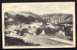 CPA  ANCIENNE- FRANCE- NOTRE-DAME-DU-LAUS (05)- VUE GENERALE DU VILLAGE- FERMES- EGLISE- CULTURES - Frankreich