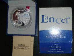 FRANCE EURO 2003 Lancer Paris 2003 BE 1,50 € En Argent - Frankrijk