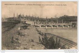 BEAUMONT -  MONTEUX ,,,,l \´ USINE  ELECTRIQUE En  Construction   -  Canal De  Fuite,,,,, Carte Peu Courante ;;;; - Sin Clasificación