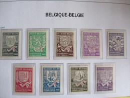 Reeks Eerste Winterhulp Provinciewapens ** èènkleurig Zegels Uit Blok 10A Ongetand - Belgique