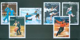 LAOS - Mi-Nr. 1148 - 1153 Olympische Winterspiele 1992, Albertville Gestempelt - Winter 1992: Albertville