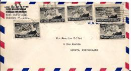 22125 - Enveloppe Envoyée De Chicago En Suisse - Briefe U. Dokumente