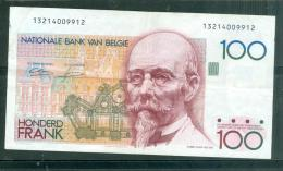 Belgique, 100 Francs, Type Hendrik Beyaert N°13214009912 - 5 / 10  - Plis Et Froissures -  Laubi04 - [ 2] 1831-... : Belgian Kingdom