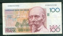 Belgique, 100 Francs, Type Hendrik Beyaert N)22002525352  - état 4/10 - Traces De Plis -  Laubi04 - [ 2] 1831-... : Reino De Bélgica