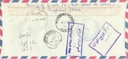Iraq 2000 Baghdad Moorhen Returned Registered Cover From Kenya - Irak