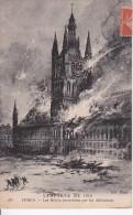 CPA Ypres - Les Halles Incendiées Par Les Allemands - Campagne De 1914 - 1916 (5852) - Ieper