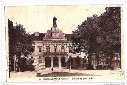 F469 86 CHATELLERAULT L'hotel De Ville Timbre Cachet 1937 - Chatellerault