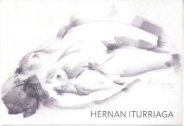 DESNUDOS - HERNAN ITURRIAGA - TINTA, GRAFITO Y ACUARELA EZEQUIEL DIAZ ORTIZ ARTE COMO EN CASA TARJETA PUBLICITARIA - Drawings