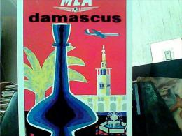 MEA  DAMASCUS  MIDDLE  EAST  AIRLINES  AEREO AVION  PUBBLICITA N197 EK6397 - Aviation