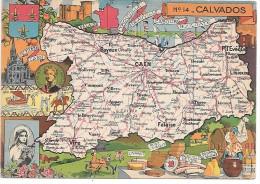 CALVADOS - 14 - Landkarten