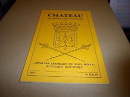 """CHATEAU DU BOURG-SAINT-LEONARD 1971 DR BEKIAN """"Demeure Française Du XVIIIe Siècle"""" MONUMENT HISTORIQUE - Normandië"""
