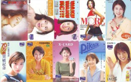 LOT 10 Telecartes Differentes Japon * FEMME Femmes (519) SEXY GIRL Girls Phonecards Japan * TELEFONKARTEN FRAUEN FRAU - Telefoonkaarten