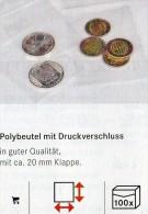 Lindner #788 Größere 200-Polybeutel Mit Verschluß Neu 36€ Schutz/Einsortieren 220x310mm For Coins,stamps+letter Of World - Materiaal