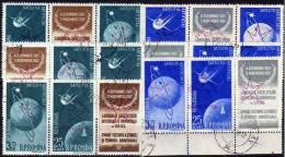 Ausstellung In Brüssel Rumänien 1717/0 AD Auf 6xZD-Paare O 300€ Satellit Overprint EXPO 1958 Space Se-tenant Of Romania - 1948-.... Repubbliche