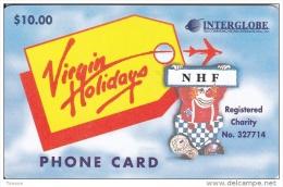 United States, Virgin Holidays, NHF, Interglobe, Clown, Airplane, 2 Scans. - Stati Uniti