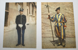 VATICANO - UNIFORMI DELLA GUARDIA SVIZZERA E GENDARMERIA PONTIFICIA, COLLEZIONE 21 CARTOLINE - Uniforms