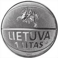 """LITUANIA   1  LITAS  2.011  CU-NI   SC/UNC  """"BASKET""""    DL-9875 - Lituania"""